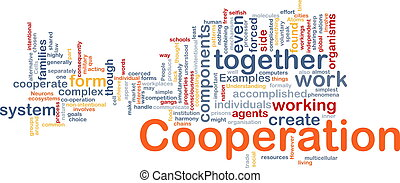 Cooperation management background concept - Background...