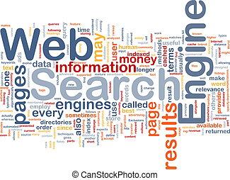 ricerca, motore, fondo, concetto