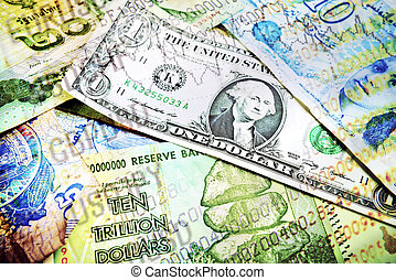 お金, 様々, 数, 市場