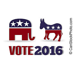 Vote 2016 logo vector symbol background