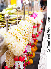 flowers garland offering for gods