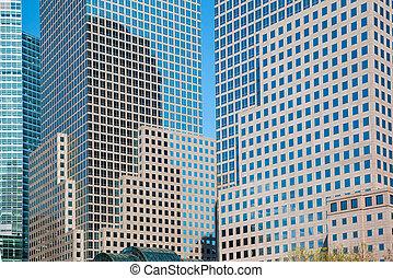 Manhattan modern architecture - NEW YORK, USA. Manhattan...