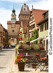 Rothenburg ob der Tauber Germany - Beautiful view of the...