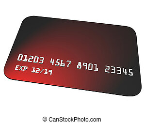 Red Credit Card Charging Purchase Shopping Blank Copy Space