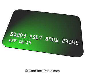Green Credit Card Charging Purchase Shopping Blank Copy Space