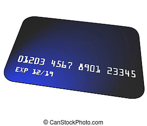 Blue Credit Card Charging Purchase Shopping Blank Copy Space