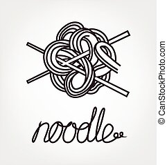 noodles and chopsticks, traditianal east food and...