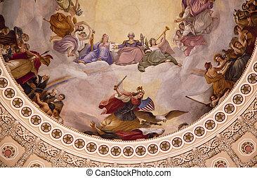 国会議事堂, ワシントン, DC, 私達, ドーム, 円形の建物,  apothesis, ジョージ