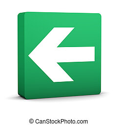 Green Arrow Sign - Green arrow sign on a white background...