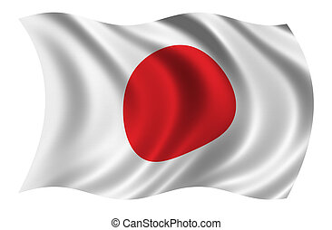 Flag of Japan - CLIPPING PATH INCLUDED