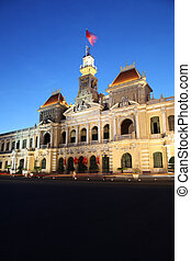 Ho Chi Minh City - Vietnam - Peoples Committee Building -...