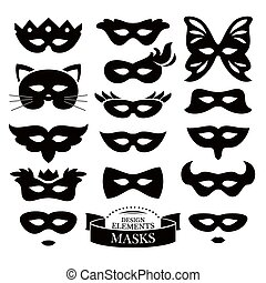 Set of different masks