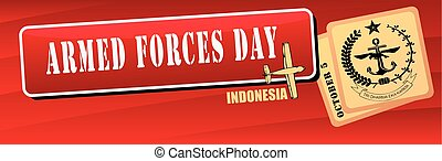 Banner Armed Forces Day Indonesia - Indonesia, Armed Forces...