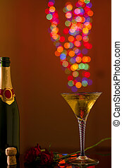 Christal Champagne glass with flares - Stemmed champagne...