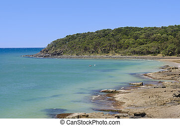 Tee Tree Bay at Noosa Australian coastline - Tee Tree Bay at...