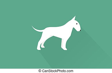 english bull terrier icon - english bull terrier flat...