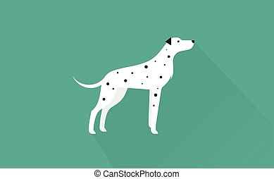 dalmatian icon - dalmatian flat illustration clean and...