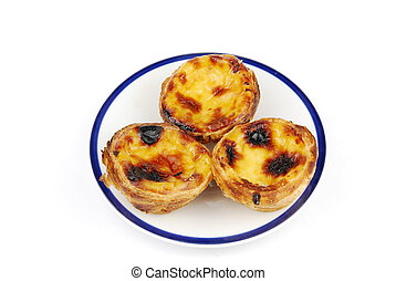 Portugese pastries called pasteis de nata - delicious...