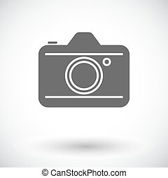 Camera Single flat icon on white background Vector...
