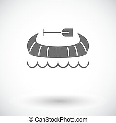 Canoe icon - Canoe Single flat icon on white background...