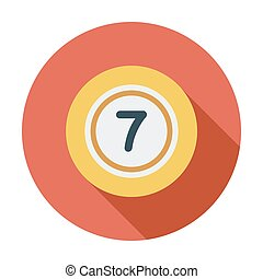 Lottery ball Flat icon on the white background for web and...