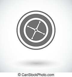 Roulette Single flat icon on white background Vector...
