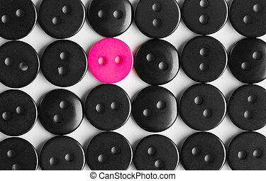 to be bright, stands out concept - several rows of black...