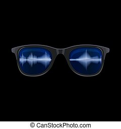 Sunglasses with Sound Wave Reflection