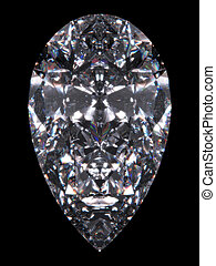 Diamond pear cut - Diamond series; isolated 3d jewellery...