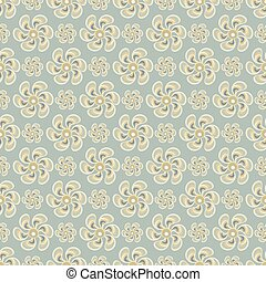 delicate abstract flowers on gray background seamless pattern vector illustration