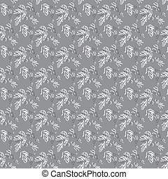 tree leaves on a gray background vector illustration seamless pattern
