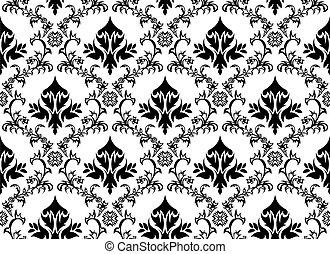 seamless damask pattern - Damask seamless background