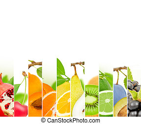 Fruit mix - Photo of fruit mix with white space
