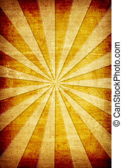 abstract yellow vintage grunge background with sun rays for...