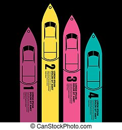 race Boat infographics