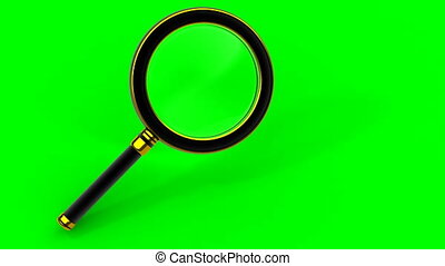 rotating magnifying glass tool - HD video 1920x1080 from 3d...