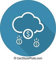 Make Money Icon Business Concept Flat Design - Make Money...