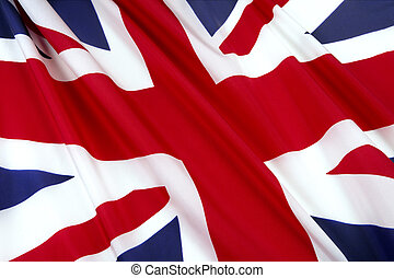 Flag of England - Close-up shot of wavy British flag