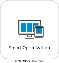 Smart Optimization Icon. Business Concept. Flat Design.