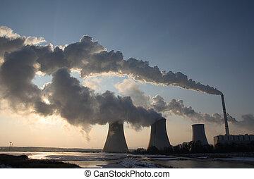 Coal powerplant view