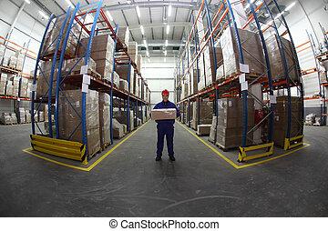 trabajador, caja