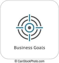Business Goals Icon. Flat Design. - Business Goals Icon....