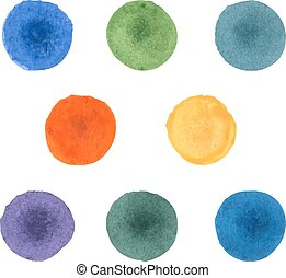Watercolor stains. - Abstract hand-drawn watercolor stains....