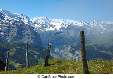 Swiss Alps - Lauterbrunnen valley in the Swiss Bernese...