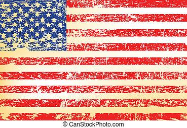 US flag - Grunge US flag