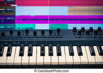 Midi keyboard with daw 2 - Midi keyboard and controller with...