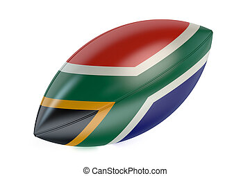 Rugby Ball with flag of South Africa
