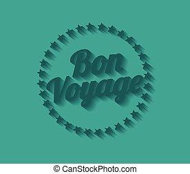Bon voyage long shadow effect