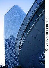 Houston Texas blue buildings skyscraper city urban view