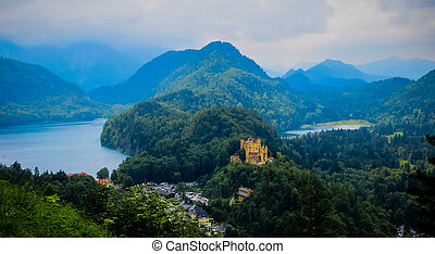 Hohenschwangau Castle Bavarian Alps - Fussen, Germany